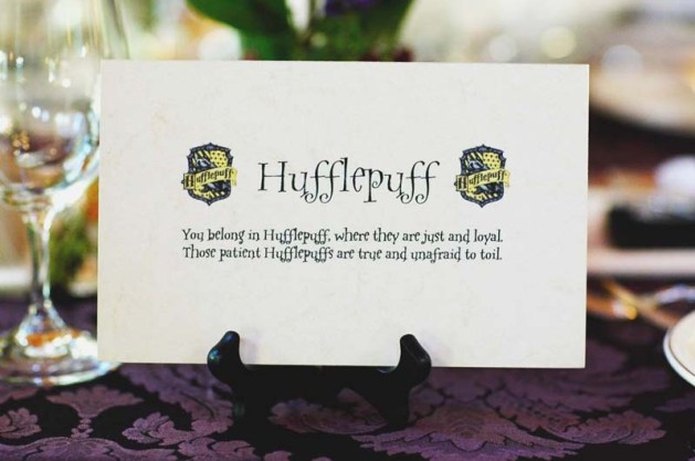 Place Cards 2 - Harry Potter Theme Wedding Ideas
