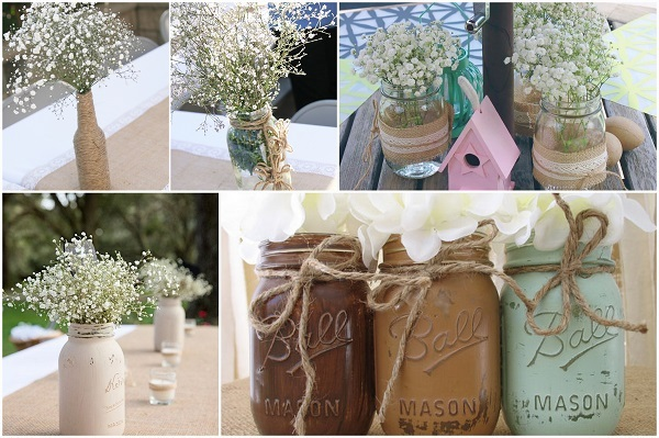 Rustic mason Jars - A2zWeddingCards