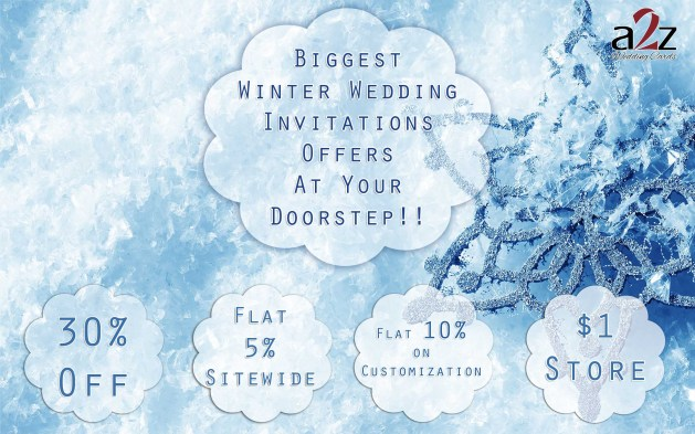 Biggest Winter Wedding Invitations Offers - A2zWeddingCards