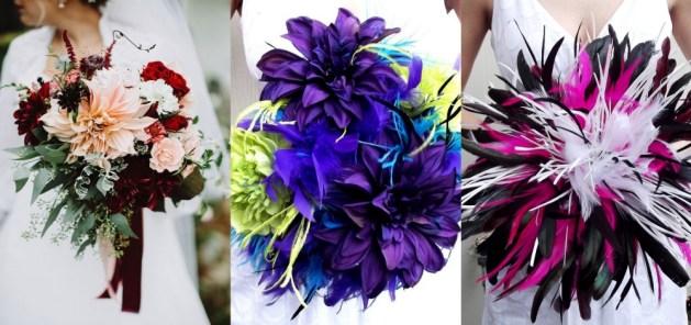 Dramatic Bridal Bouquets