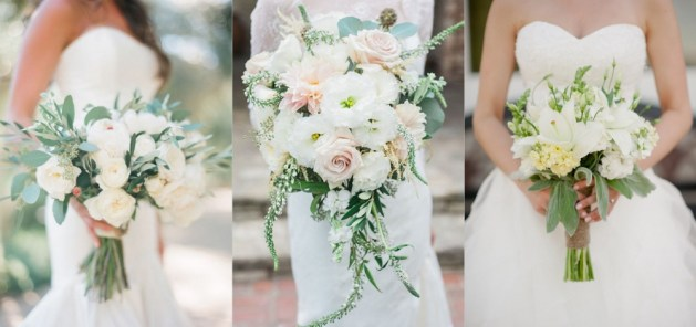 Ivory and White Flower Bridal Bouquet
