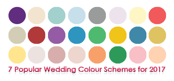 7 Popular Wedding Colour Schemes For 2017