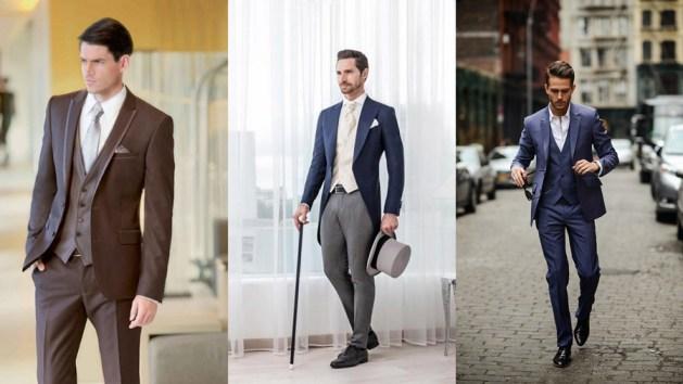 classic three-piece wedding suit