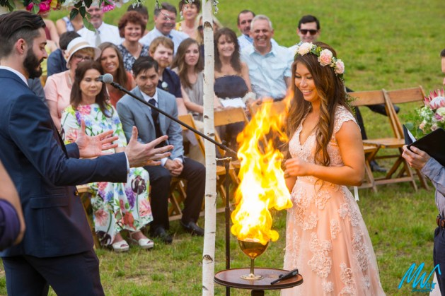 Exchange wedding vows  over the goblet of fire - Harry Potter Theme Wedding