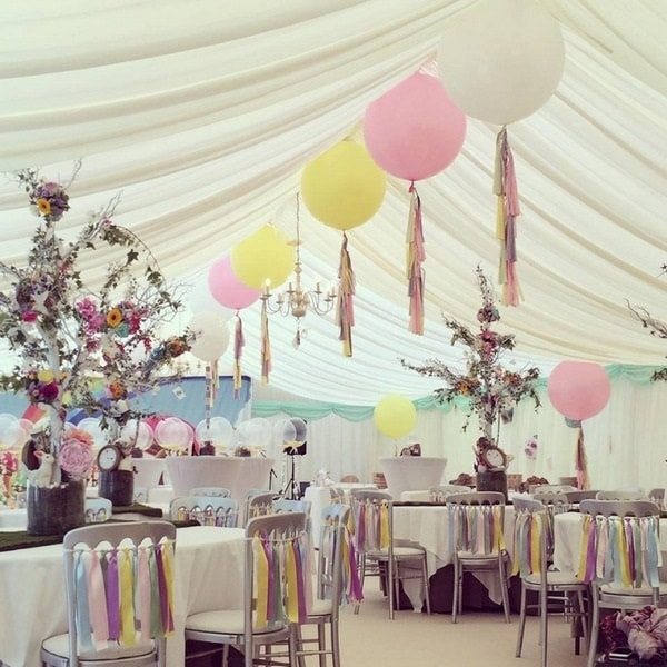 Beautiful White Tent for Outdoor Wedding- A2z Wedding Cards