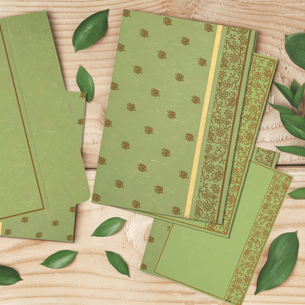 Designer Wedding Cards for natural Wedding - A2zWeddingCards