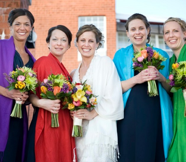 colorful scarves for your bridesmaid