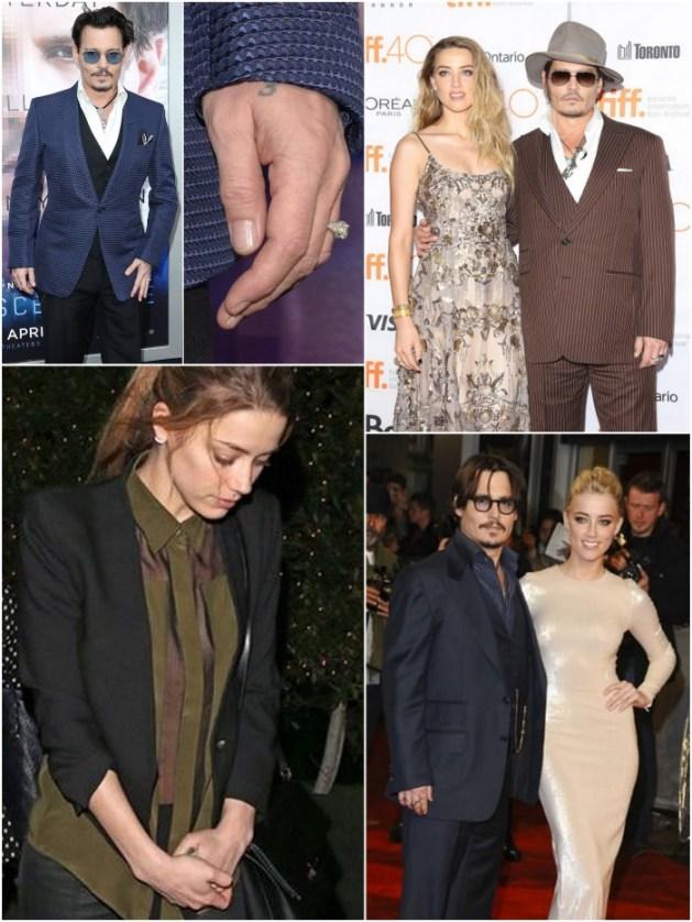Johnny Depp and Amber Heard-Proposal-A2zWeddingCards