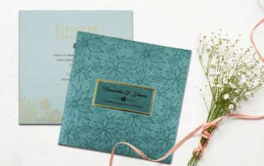 Floral Wedding Invitations-A2zWeddingCards