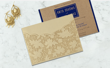 Laser Cut Wedding Invitations-A2zWeddingCards