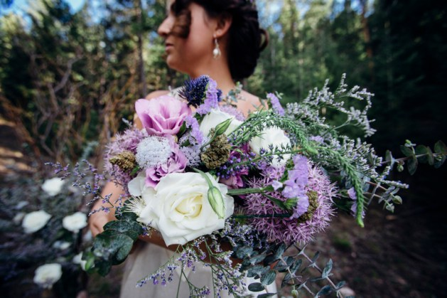 The bridal bouquet with cannabis