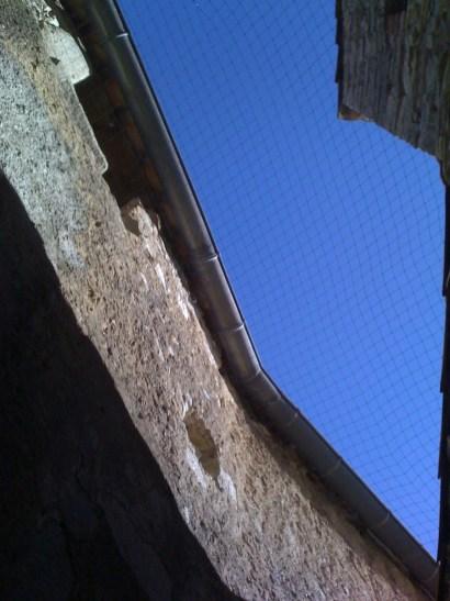 Protection par filet contre les pigeons hauteur 20m