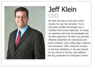 Jeff Klein; A3 Superior Pest Control
