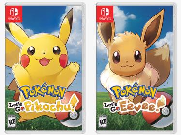 Pokémon: Let's Go, Pikachu! and Pokémon: Let's Go, Eevee! for the Nintendo Switch
