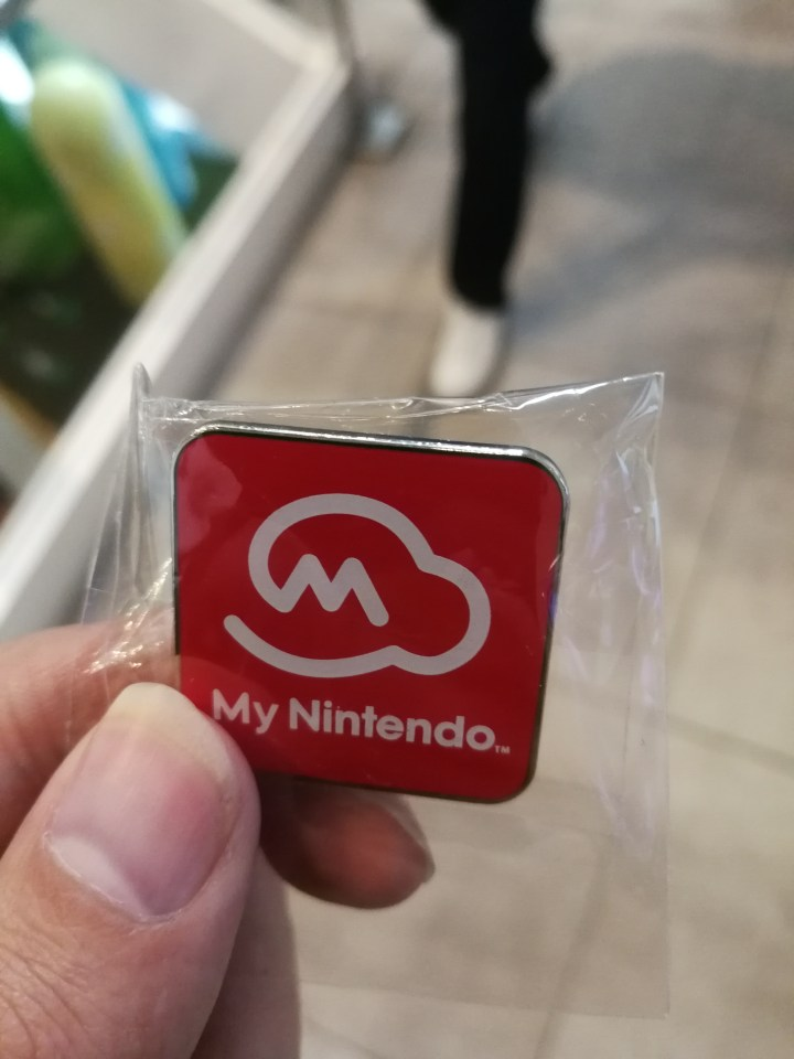 My Nintendo pin at Nintendo NY