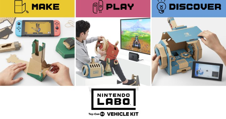 Make, Play and Discover New Adventures with Nintendo Labo Vehicle Kit