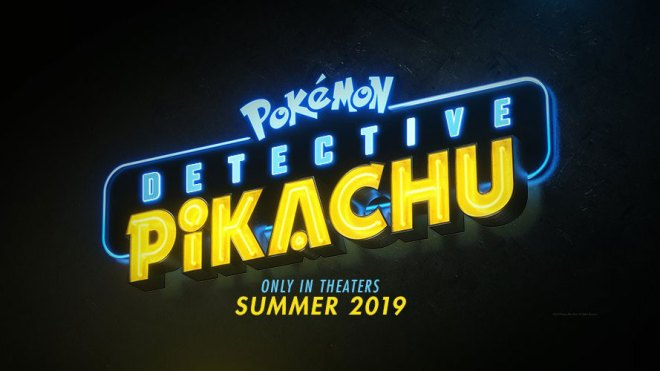 Pokémon Detective Pikachu live action movie logo date