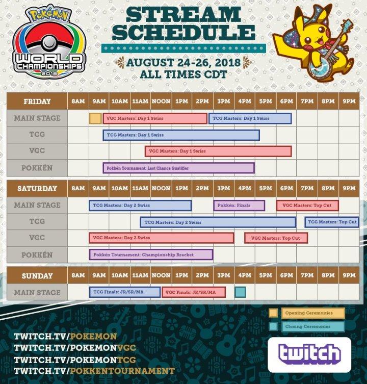 2018 Pokémon World Championships Stream Schedule gfx