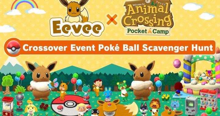 Animal Crossing Pocket Camp / Pokémon crossover event starring Eevee from Pokémon