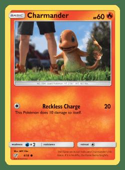 Pokemon TCG Detective Pikachu Charmander Card