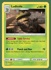 Pokemon TCG Detective Pikachu Ludicolo Card