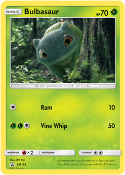 Bulbasaur - SMP EN SM198