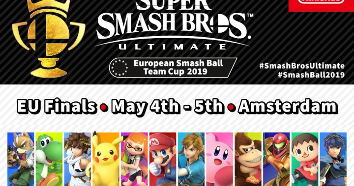 finals of the Super Smash Bros. Ultimate European Smash Ball Team Cup 2019 taking place at Amsterdam's Beurs van Berlage on 4th and 5th May.