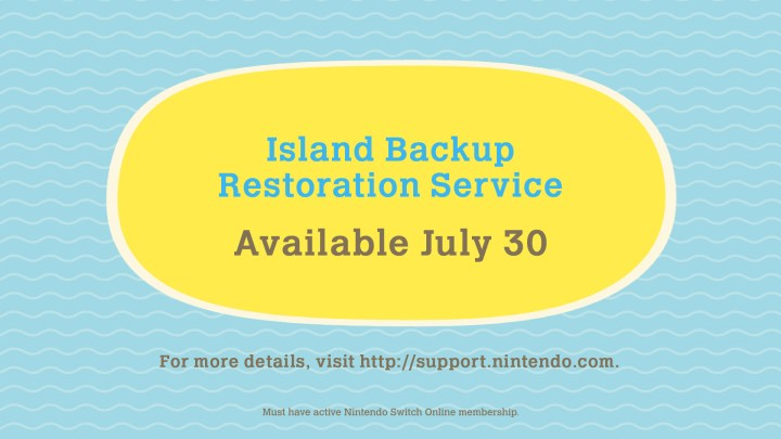 Animal Crossing: New Horizons - Island Backup & Restoration Service