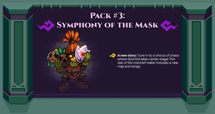 DLC Pack 3: Symphony of the Mask is now available for theCadence of Hyrule: Crypt of the NecroDancer Featuring The Legend of Zelda