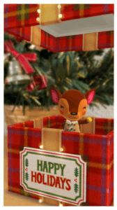 free giant holiday gift box in-game item