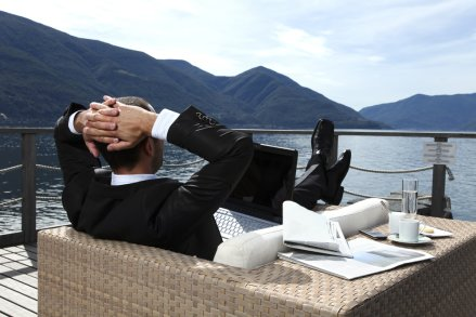 businessman relaxing freedom
