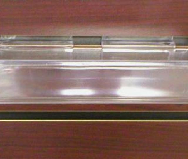 Acrylic Slatwall Shelves