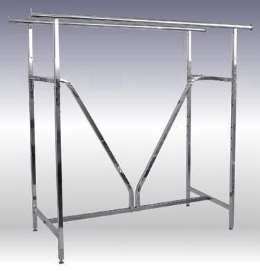 double bar garment racks with heavy