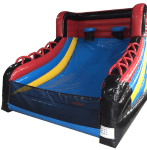 Inflatable boot basketball game