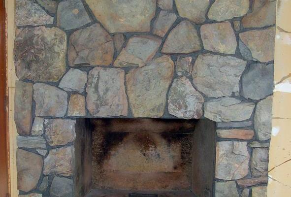Moss Rock Fireplace