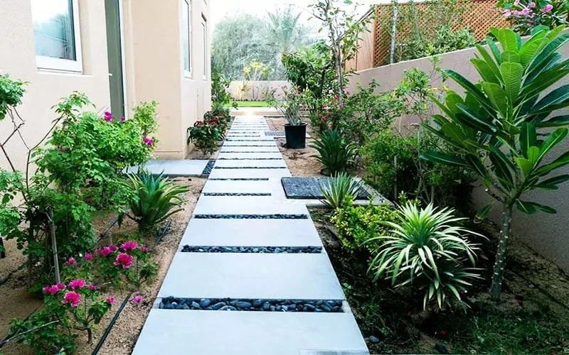 A gardens landscaping by the best landscaping company in Dubai