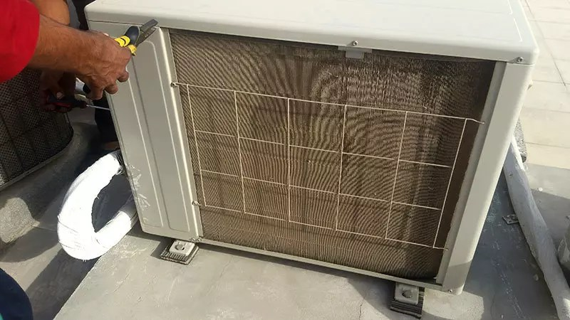 clogged condenser without air conditioning service in Dubai