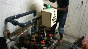 plumbing repairs at water pump room by our plumber in Dubai