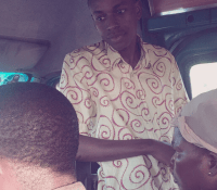 PHOTOS: FORMER HIPLIFE STAR YAW SIKI SPOTTED PREACHING IN A COMMERCIAL VEHICLE