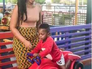 Photo of Shatta Michy's son Majesty displays wild football skills