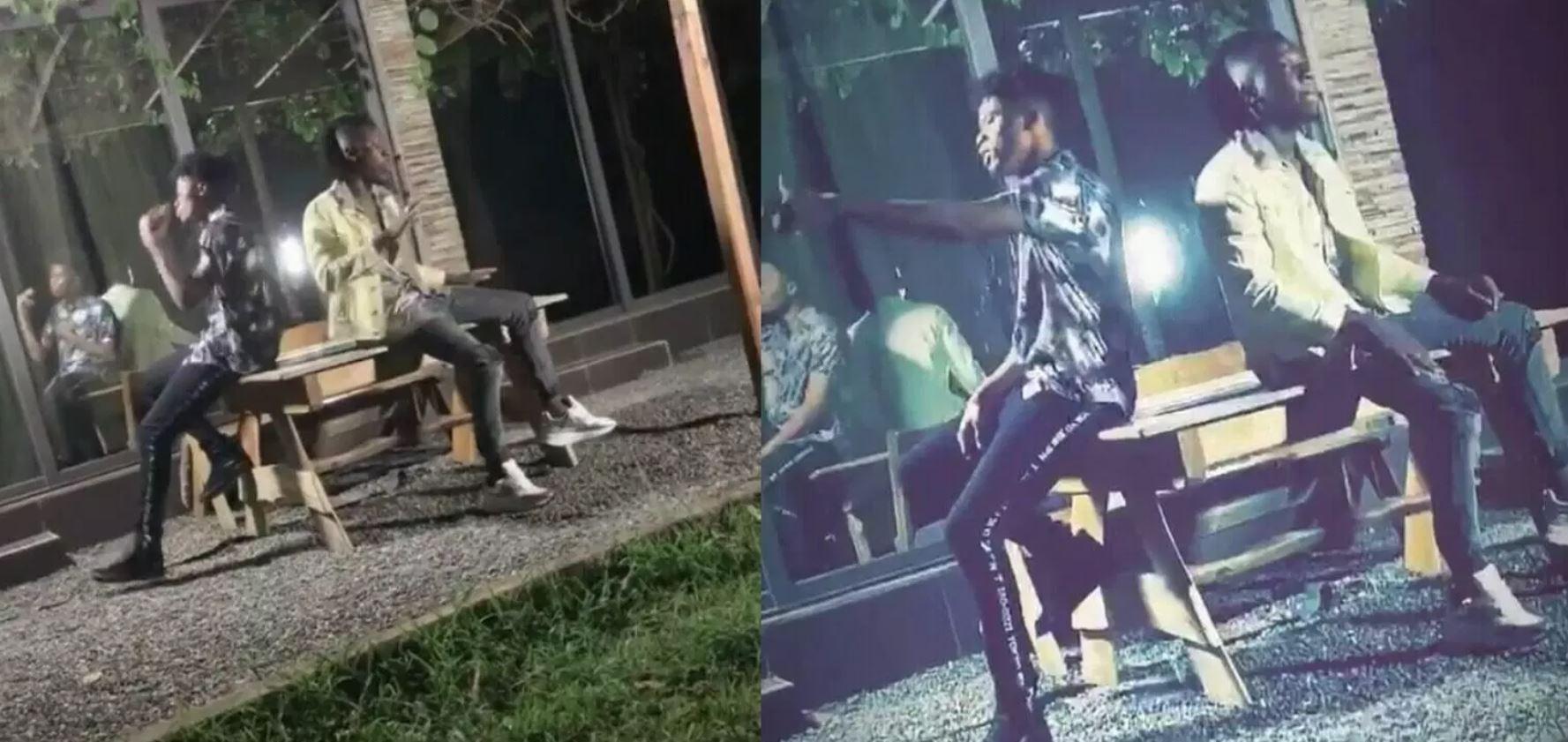 Kwesi Arthur & Stonebwoy shooting a dope music video together