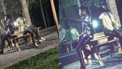 Photo of Kwesi Arthur & Stonebwoy shooting a dope music video together