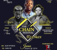 Maiden Edition: The Chain Festival, with Tulenkey comes off on 28th Sept 2019