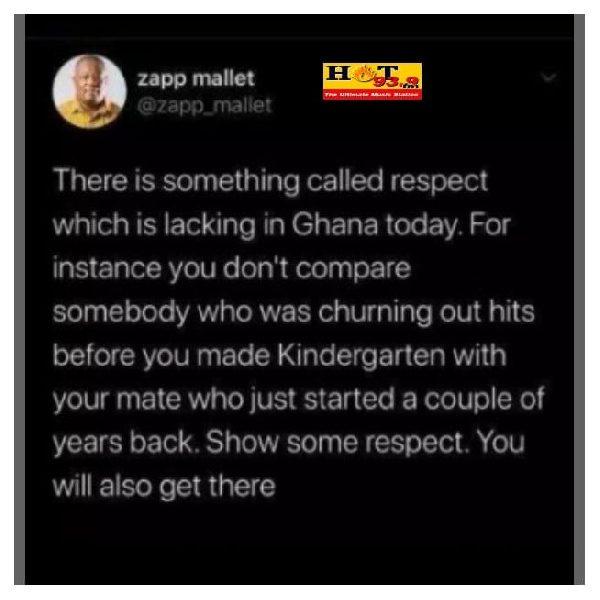 'Show some respect' - Zapp Mallet blasts Sarkodie