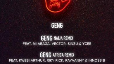 Photo of Mayorkun – Geng (Africa Remix) Ft Kwesi Arthur x Riky Rick x Rayvanny & Innoss'B