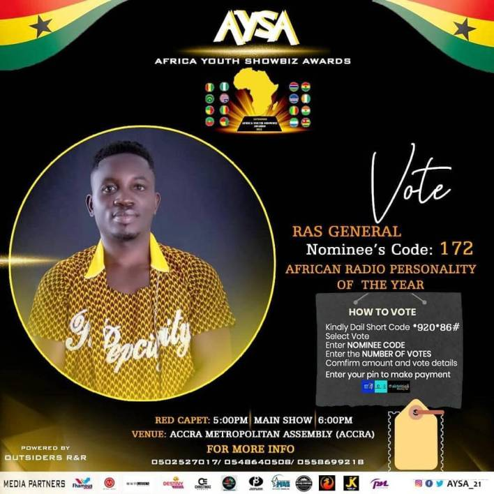 Ras General nominated as African Radio Personality of the Year 2021