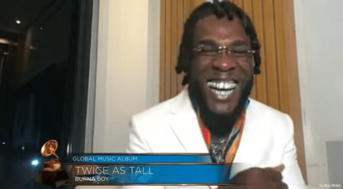Burna Boy wins Grammy Award for Best Global Album