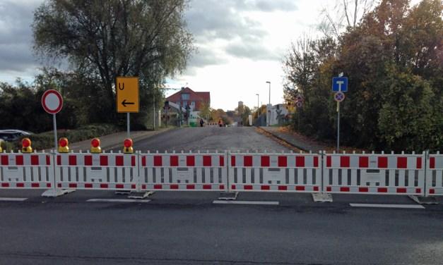 Baumaßnahme in der Liebigstraße
