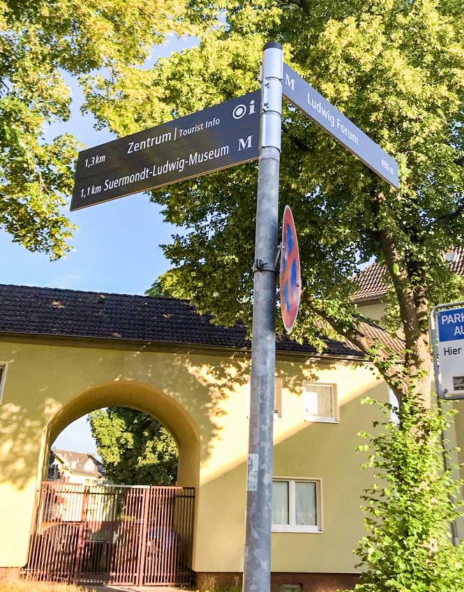 Wegweiser Aachen