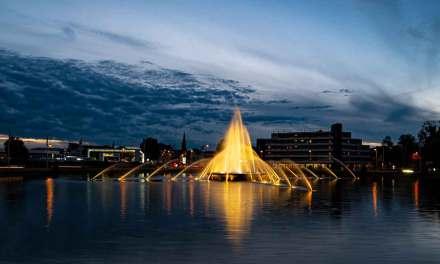 Europaplatz am Abend